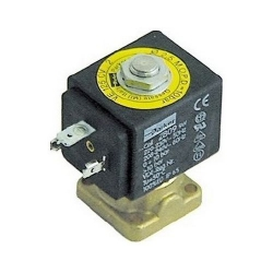 2-WAY SOLENOID VALVE 230V LARGE COIL OUTLETS SQUARE BASE