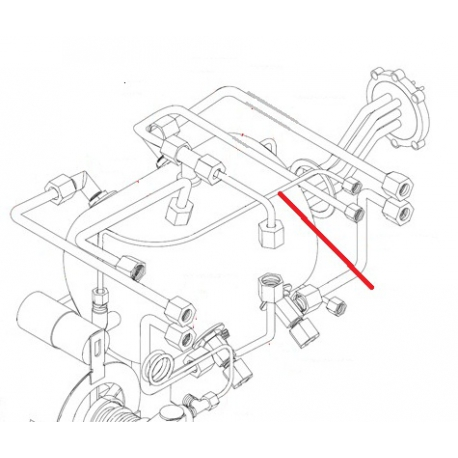 TUBE ROBINET EAU -CHAUDIERE 2G ORIGINE SIMONELLI - FQ6330