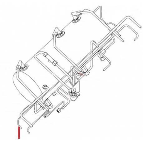 TUBE MANO-CHAUDIERE 3GR ORIGINE SIMONELLI - FQ6343