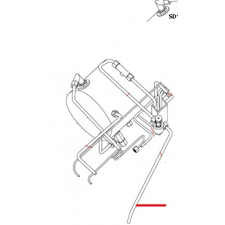 TUBE VIDANGE DECHARGE 3GR ORIGINE SIMONELLI - FQ6455