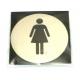 PLAQUETTE DE PORTE FEMME - RRI151