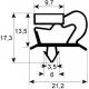 JOINT DE PORTE 680X415MM GRIS ORIGINE IRINOX - VEQ63