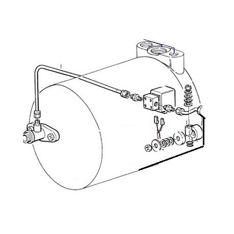 TUYAU CHAUDIERE ELECTROVANNE ORIGINE CIMBALI - PQ6595