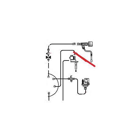 TUBE CHAUDIERE A ROBINET EAU ORIGINE CIMBALI - PQ6838