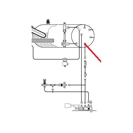 TUBE ALIMENTATION CHAUDIERE ORIGINE CIMBALI - PQ6710