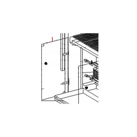 GLACE RBE 80/120 610X343.5X5 ORIGINE ROLLERGRILL - EYQ8453