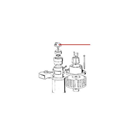 CLIP POUR CAPUCHON F ORIGINE SCODIF - FPQ862