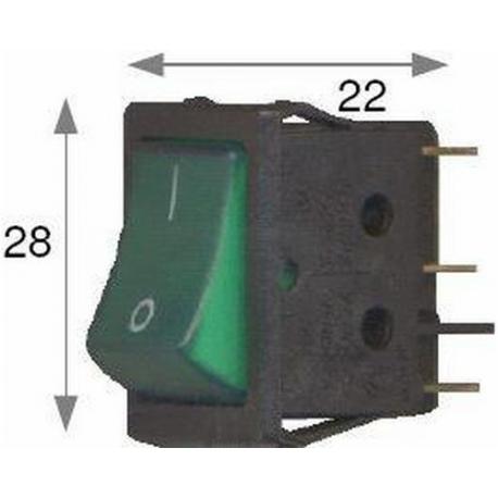 FYQ120-BOUTON VERT 6PL RCTANGLE