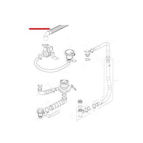 TUBE VIDANGE COUDE D/25MM L/2M ORIGINE ITW - RQ6688