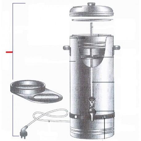 CAFETIERE INOX 5 LITRES ORIGINE TELLIER - GRQ6976