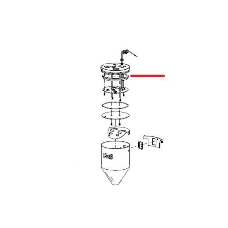 JOINT COUVERCLE POUSSOIR ORIGINE MAZZER - ZEQ655