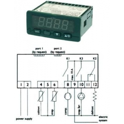 REGULATEUR ELECTRONIQUE EVCO EVK203N7 NTC/PTC 230V 50/60HZ - SEQ012