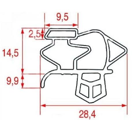 JOINT MAGNETIQUE A CLIPSER L:700MM L:648MM BLANC - SEQ025