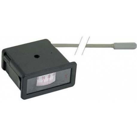 THERMOMETRE -40Ø/+40Ø 58X24MM CAP.2500MM BULBE 30MM  - TIQ3862