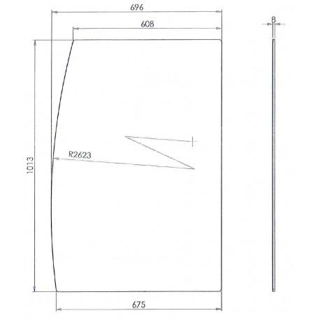 VITRE LATERALE MARAO 2 NOUVEAU MODELE L:1020MM L:700MM - SKQ6753