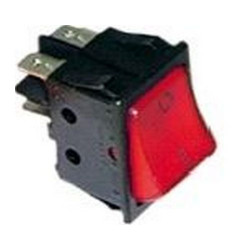 RED UNIVERSAL BIPOLAR ON/OFF SWITCH 250V 16A 30X22MM