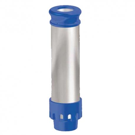 TUBE DE TROP PLEIN AVEC FILTRE POUR BONDE 1'1/2 H:180MM BLEU - ITQ178