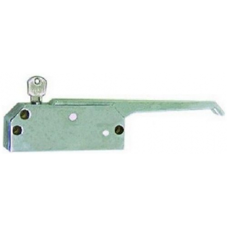 FERMETURE DE PORTE AVEC CLE L:125MM ENTRAXE 105/110MM - TIQ4959
