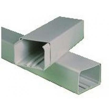 GOULOTTE 80X60MM EN 2M PVC BLANC - SEQ17