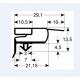TIQ65467-JOINT DE PORTE 612X1700MM GRIS