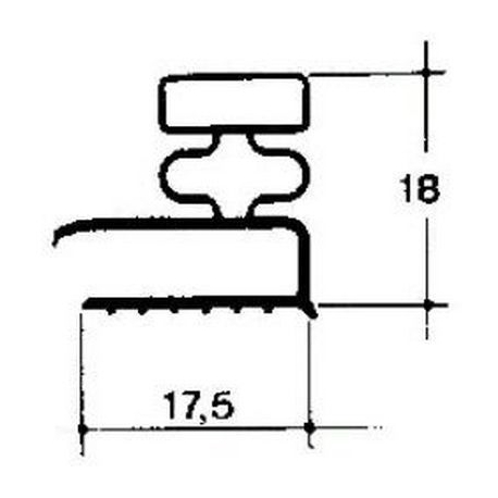 JOINT DE PORTE BLANC LG:2.5M - TIQ65258