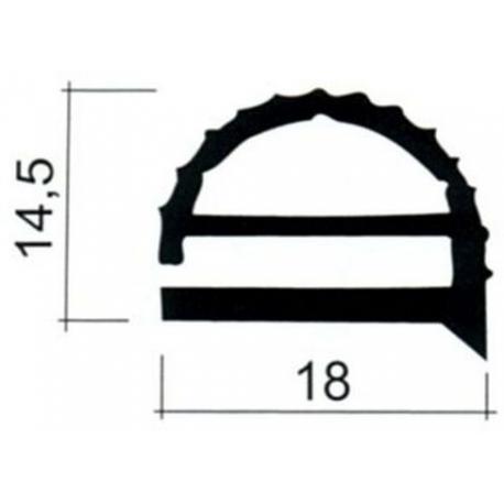 JOINT PVC PLAT GRIS AU METRE H:14.5MM - TIQ63735