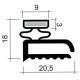 TIQ63842-JOINT PVC PLAT BLANC PAR 2.5M