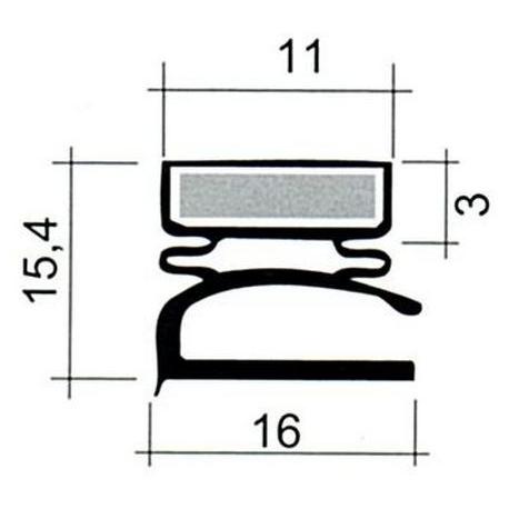 JOINT PVC PLAT BLANC L 2.55M - TIQ63843