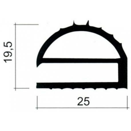 TIQ63840-JOINT PVC PLAT GRIS AU METRE