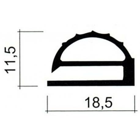 JOINT PVC PLAT GRIS AU METRE H:11.5MM - TIQ63957