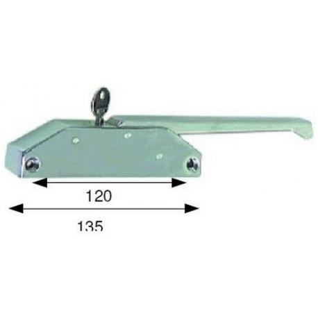 FERMETURE DE PORTE G685C AVEC CLE L:135MM ENTRAXE 120MM - TIQ4095