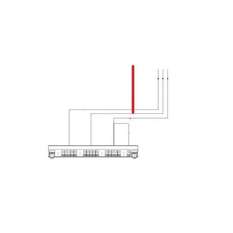 CABLE POUSSOIR XEOS 2X 8 BROCHES L:1400MM ORIGINE CONTI - PBQ954395
