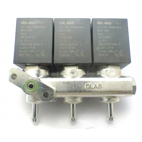 BLOC-3-ELECTROVANNE OLAB 2VOIES 24V CC í2MM ORIGINE - 70576061