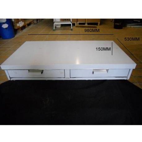 BAC A MARC 2 TIROIRS L:980MM L:530MM H:150MM INOX - IQ7174