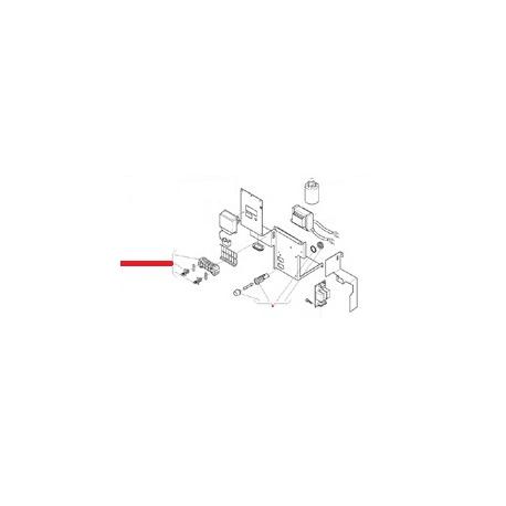 BORNIER 3 POLES AVEC SUPPORT - MQN288