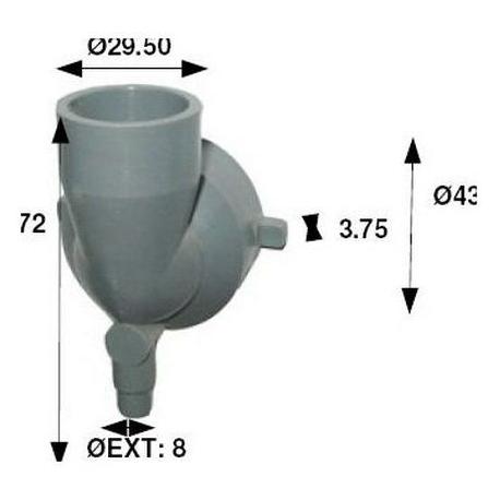 IQN175-BASE MIXEUR SORTIE VERTICALE