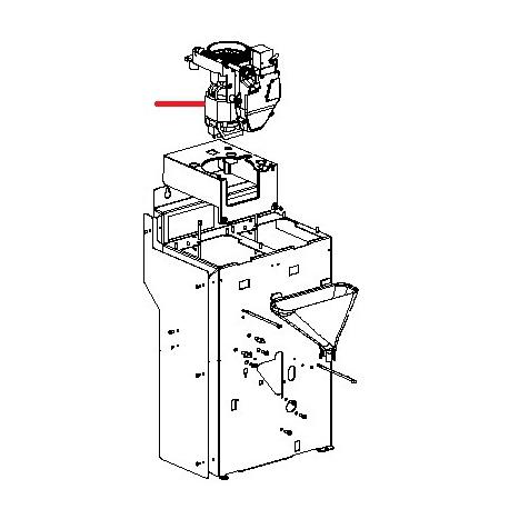 MOTEUR GRAIN FS400 COMPLET ORIGINE SAECO - FRQ8704