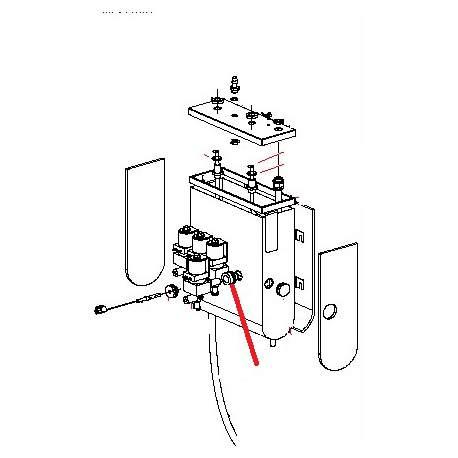 PASSE-TUBE ELECTROVANNE CHAUDIERE ORIGINE SAECO - FRQ8725