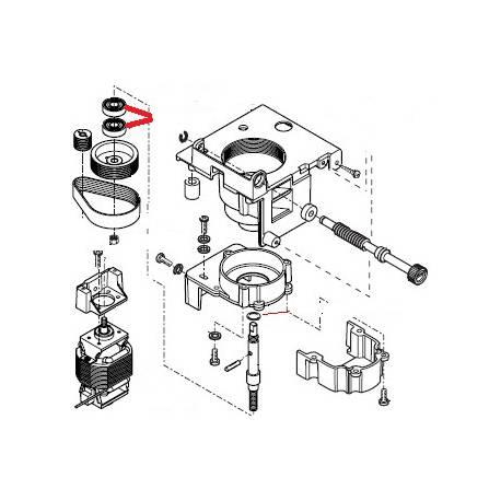 ROULEMENT RTP 608-2Z ORIGINE SAECO - FRQ8805