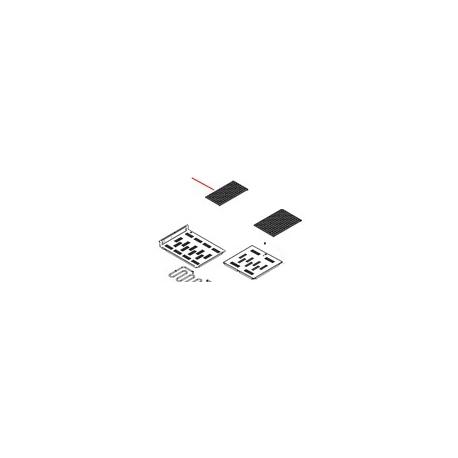 GRILLE PORTE TASSE L:130MM L:255MM PLASTIQUE  - FQ7591