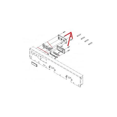 ESPACEUR EXAGONAL 6 M3 H:20MM ORIGINE SIMONELLI - FQ7506