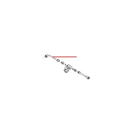 TUBE ROBINET VAPEUR DROIT ENTREE 3/8 SORTIE 1/4 - FQ7532