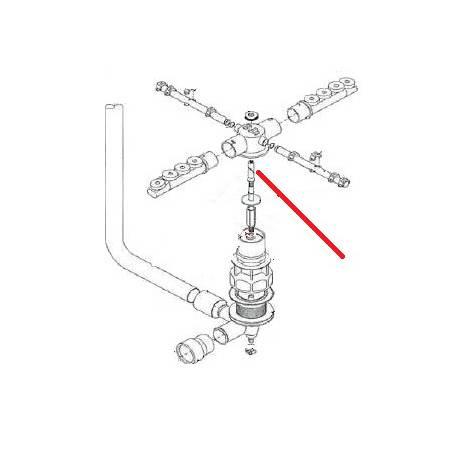 AXE RINCAGE INFERIEUR ORIGINE LASA - TIQ10123