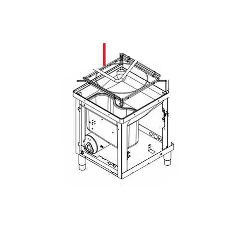 CHASSIS PORTE-CASIER POUR CAPOT D1000 ORIGINE ITW - PYQ687
