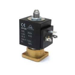 SIRAI 3-WAY SOLENOID VALVE 220V AC 50HZ LARGE COIL END-FITTING