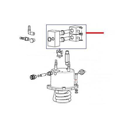 BLOC-2-ELECTROVANNE 2VOIES 24V CC ENTREE 1/8 SORTIE 1/8 - EQN7058