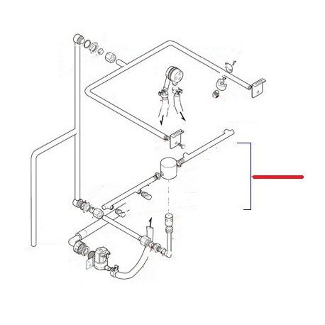 BRAS DE RINCAGE INFERIEUR COMPLET  - TIQ10254