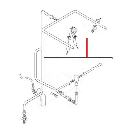 BRAS DE RINCAGE INFERIEUR COMPLET DSP5 ORIGINE LAMBER - TIQ10242