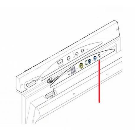 PLAQUE F AVEC BOUTON RETROALLUME RGB ORIGINE LAMBER - TIQ10374