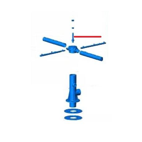 AXE INOX DIAM20 M8 TURBO 1500 ORIGINE ALFA-ELVIOMEX - TIQ10333